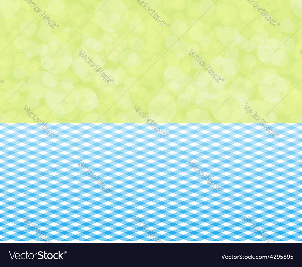 Green background boken and blue tablecloth vector | Price: 1 Credit (USD $1)