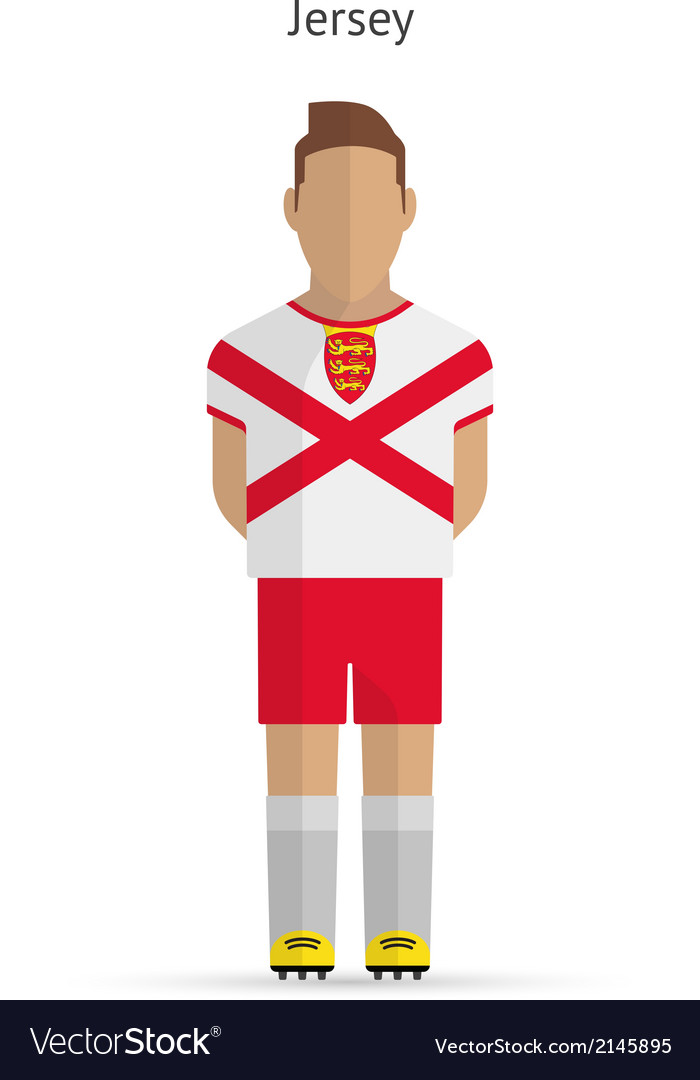 Jersey football player soccer uniform vector | Price: 1 Credit (USD $1)