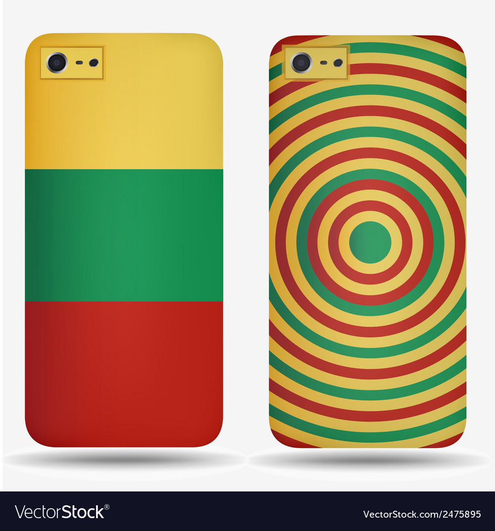 Rear covers smartphone with flags of lithuania vector | Price: 1 Credit (USD $1)