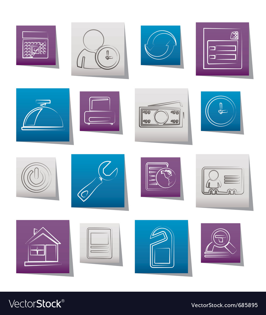 Reservation and hotel icons vector | Price: 1 Credit (USD $1)