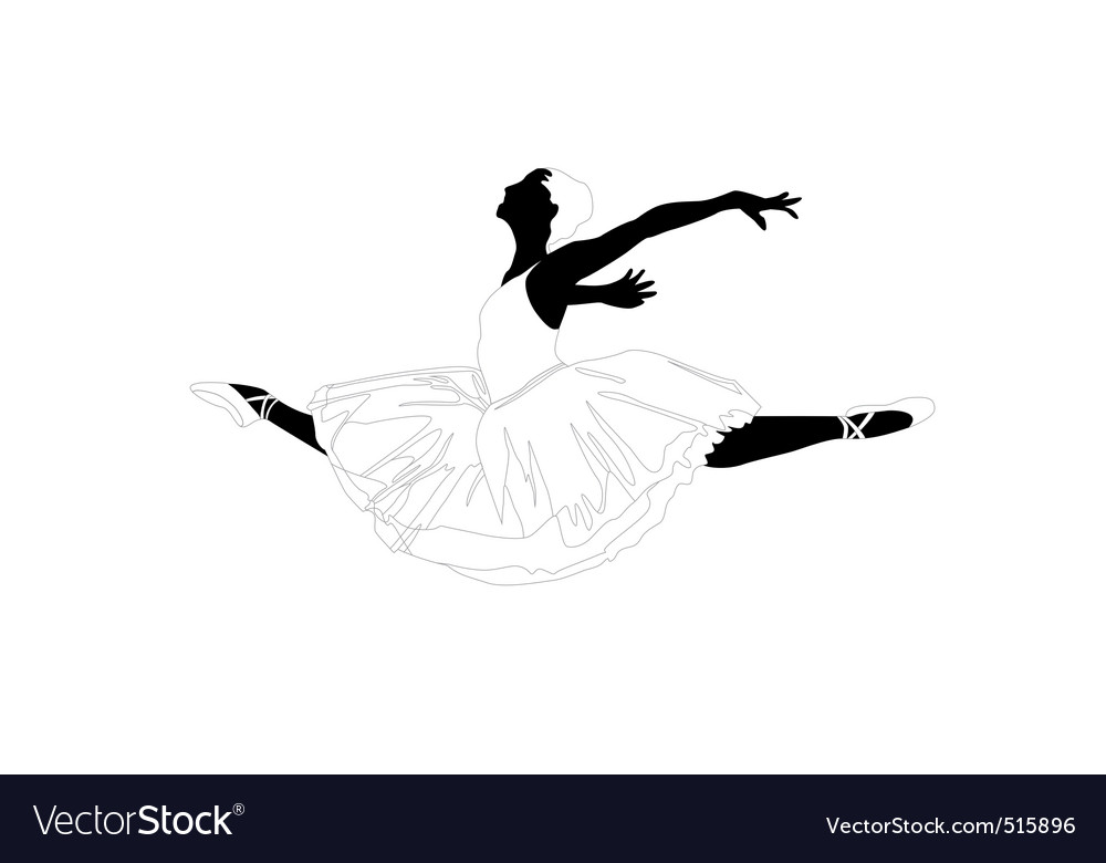Ballerina in a jump vector | Price: 1 Credit (USD $1)