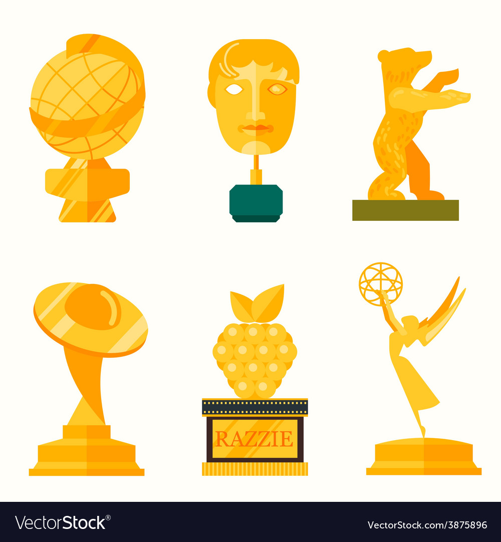 Big golden collection isolated on white vector | Price: 1 Credit (USD $1)