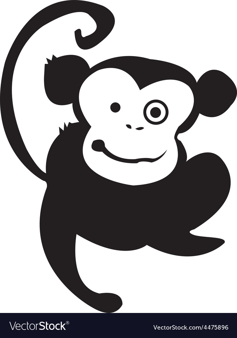 Cartoon monkey vector | Price: 1 Credit (USD $1)