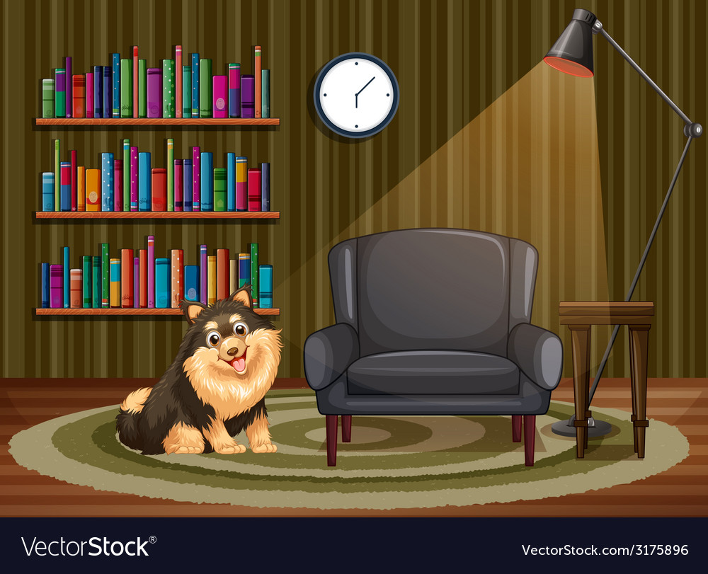 Dog and living room vector   Price: 3 Credit (USD $3)