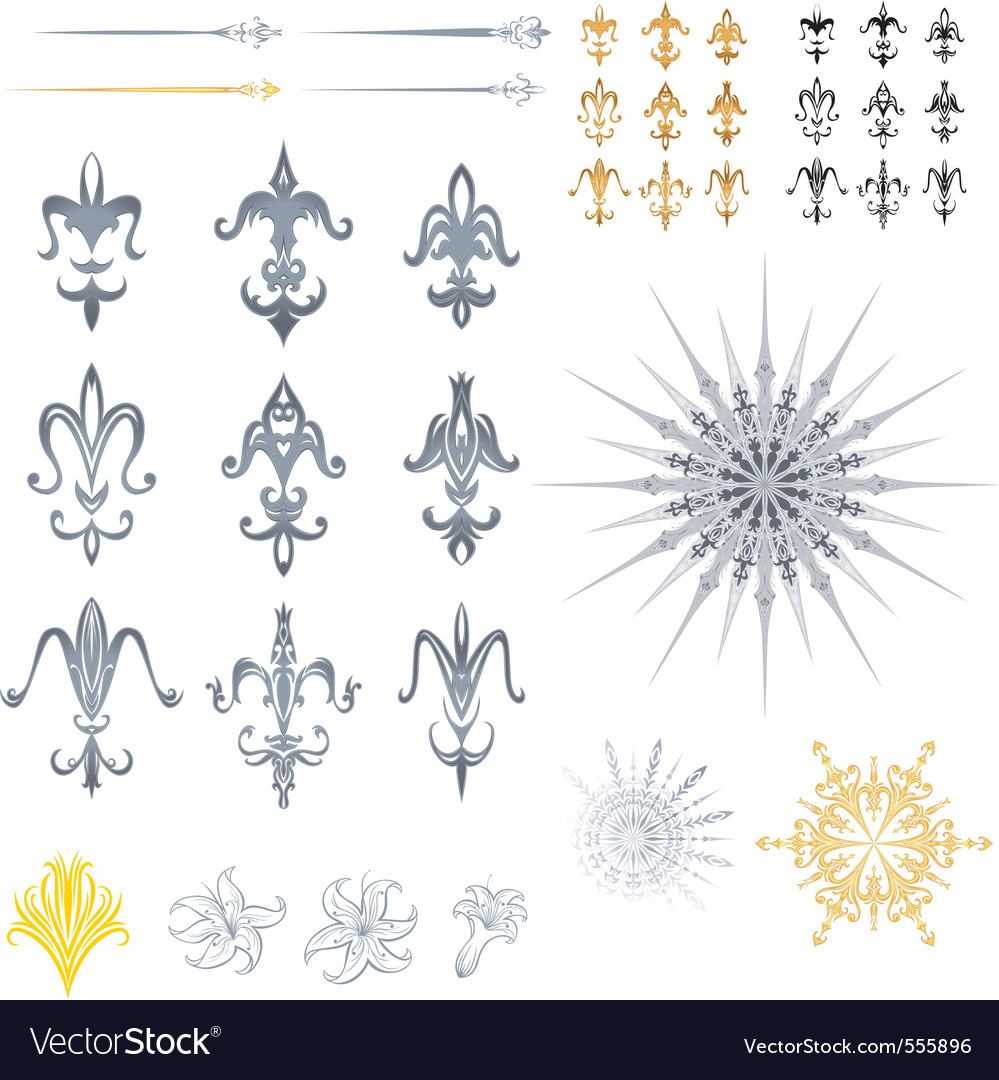 Fleur de lis designs vector | Price: 1 Credit (USD $1)