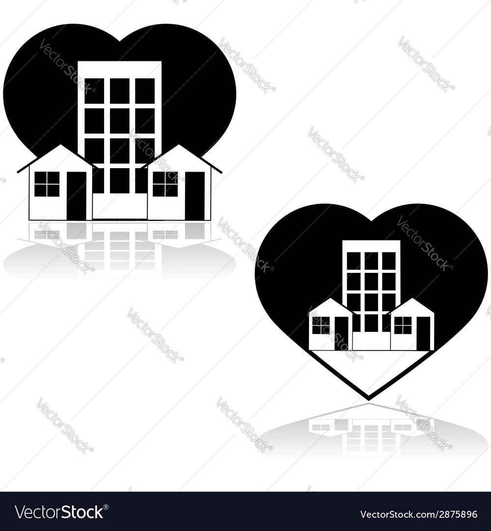 Love the neighborhood vector | Price: 1 Credit (USD $1)