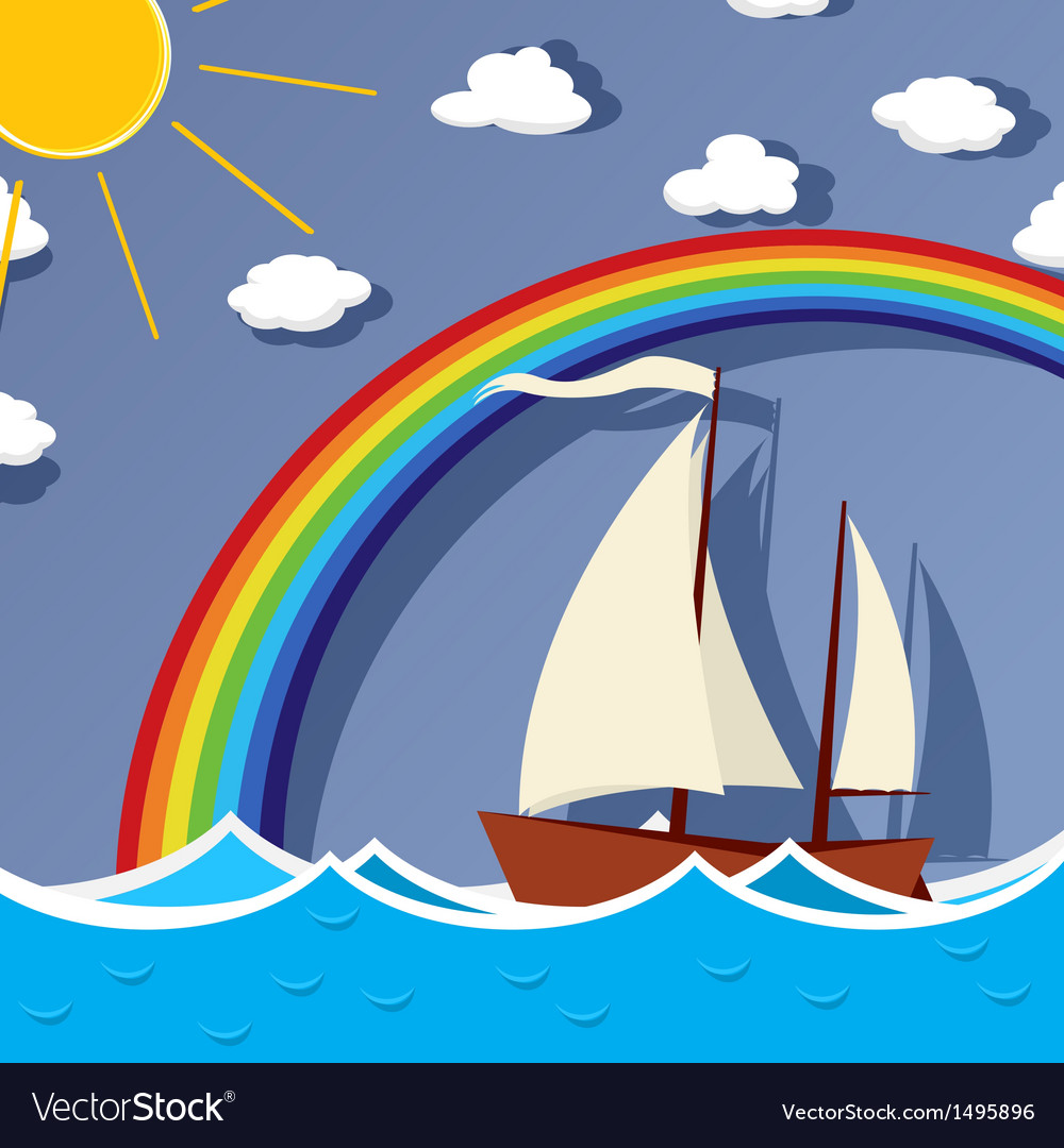 Sailing background card vector | Price: 1 Credit (USD $1)