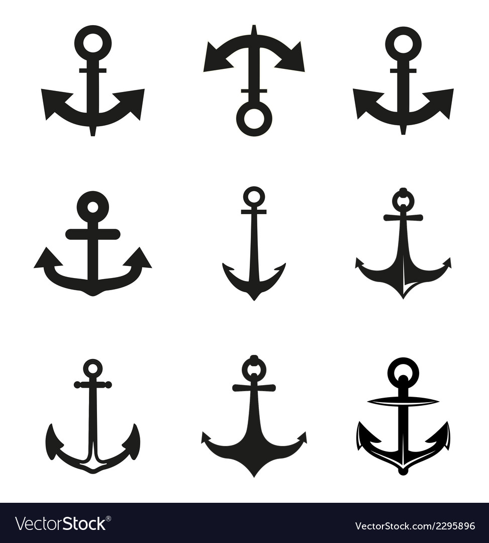 Set of anchor vector | Price: 1 Credit (USD $1)