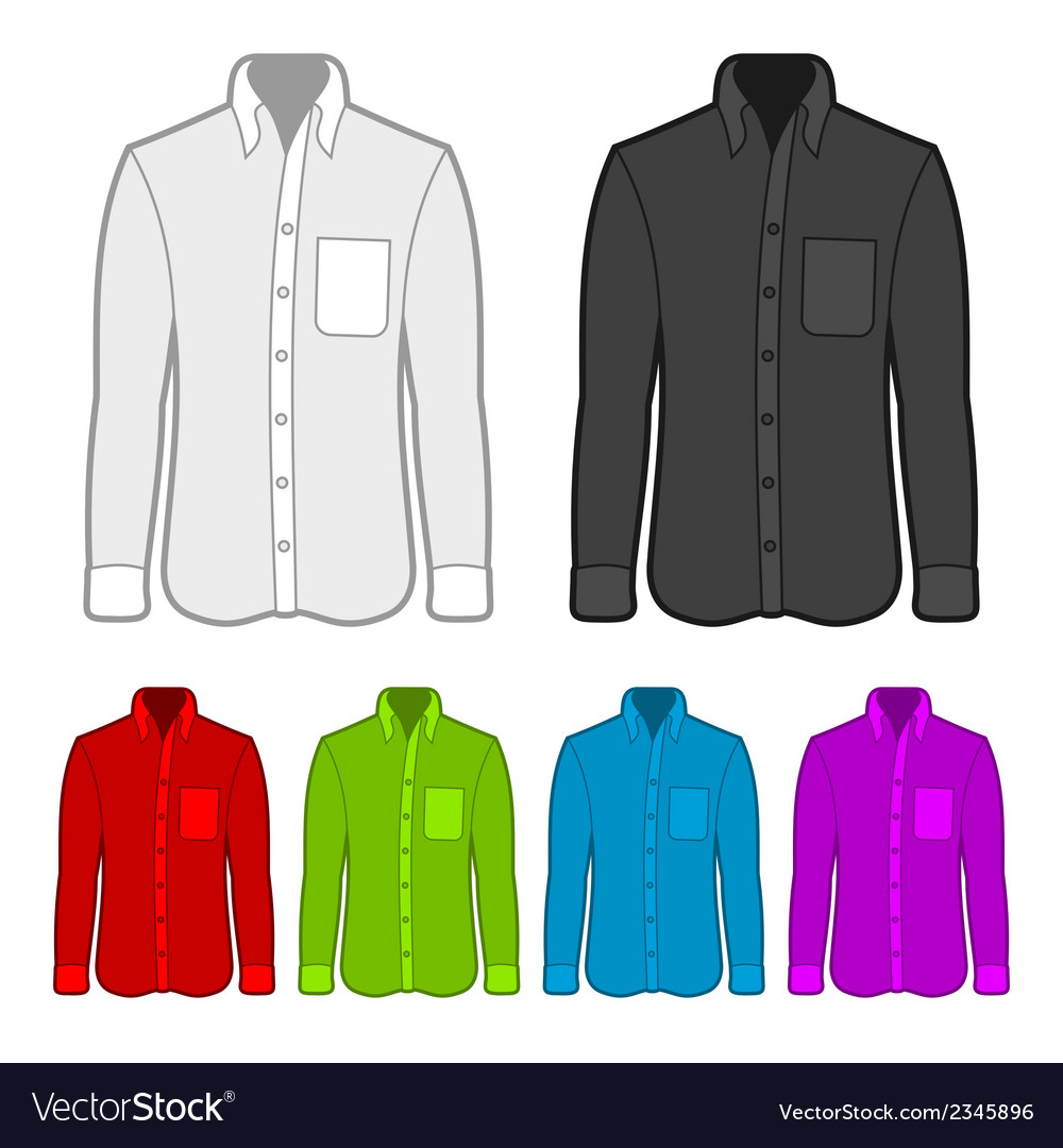 Shirt in various colors vector | Price: 1 Credit (USD $1)