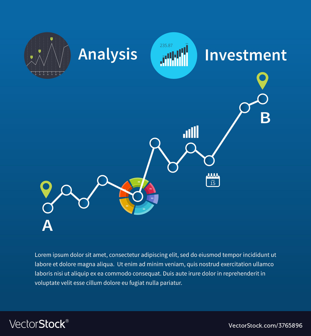 Web analytics information and investment vector | Price: 1 Credit (USD $1)