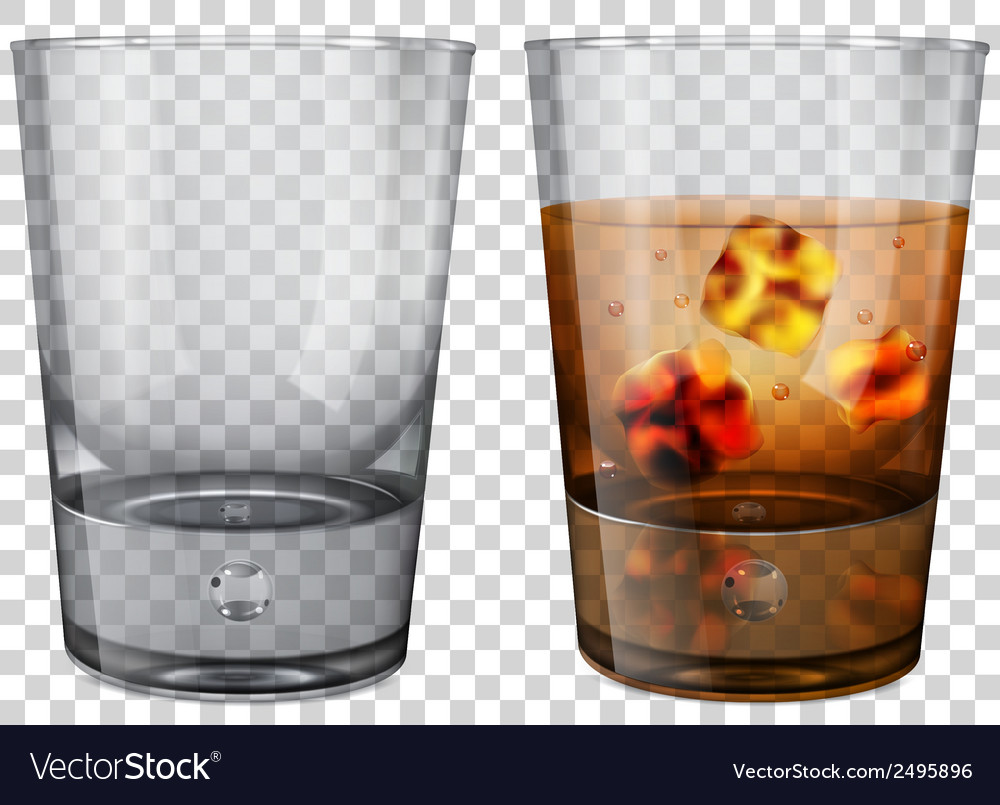 Whiskey glass with ice cubes vector | Price: 1 Credit (USD $1)
