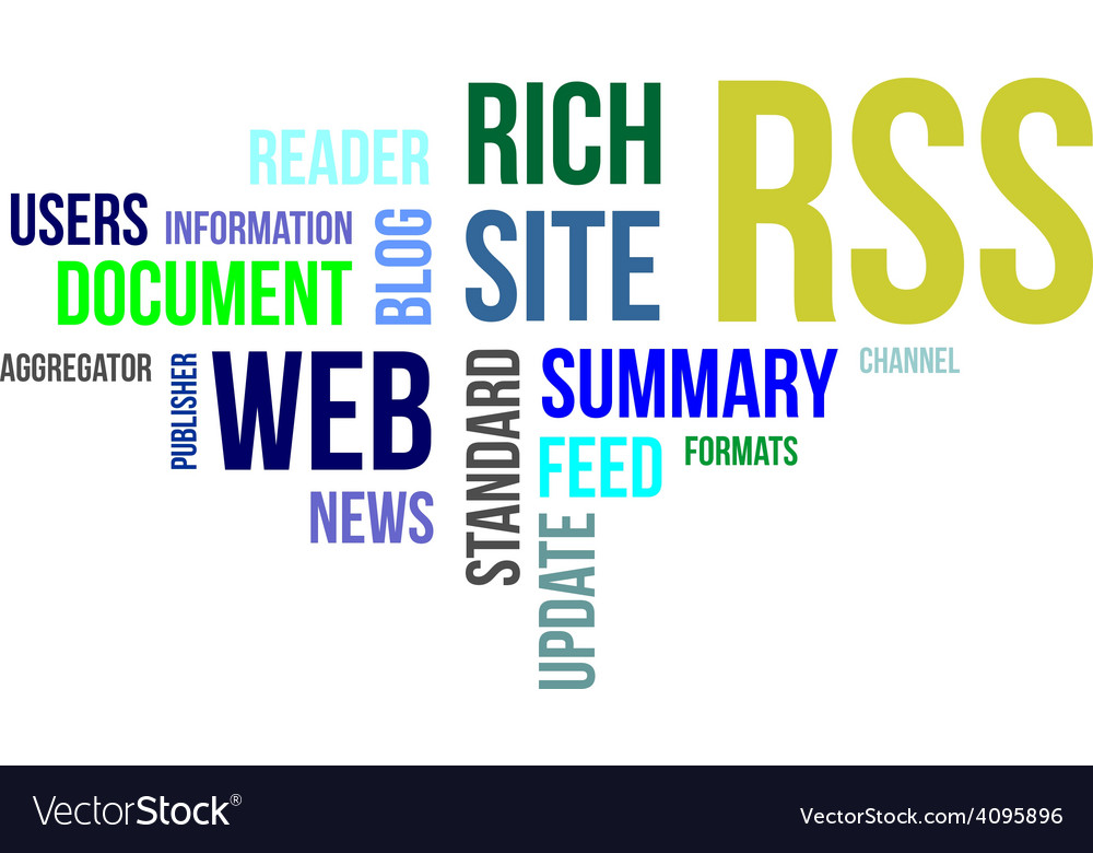 Word cloud rss vector | Price: 1 Credit (USD $1)