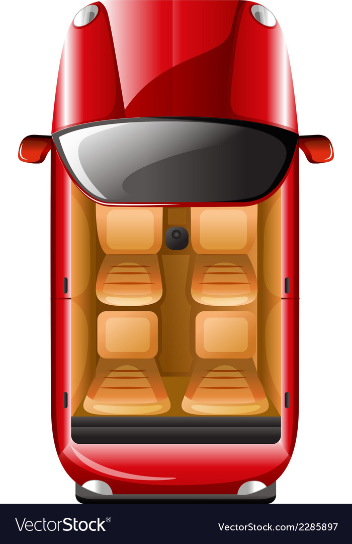 A topview of a red car vector | Price: 1 Credit (USD $1)