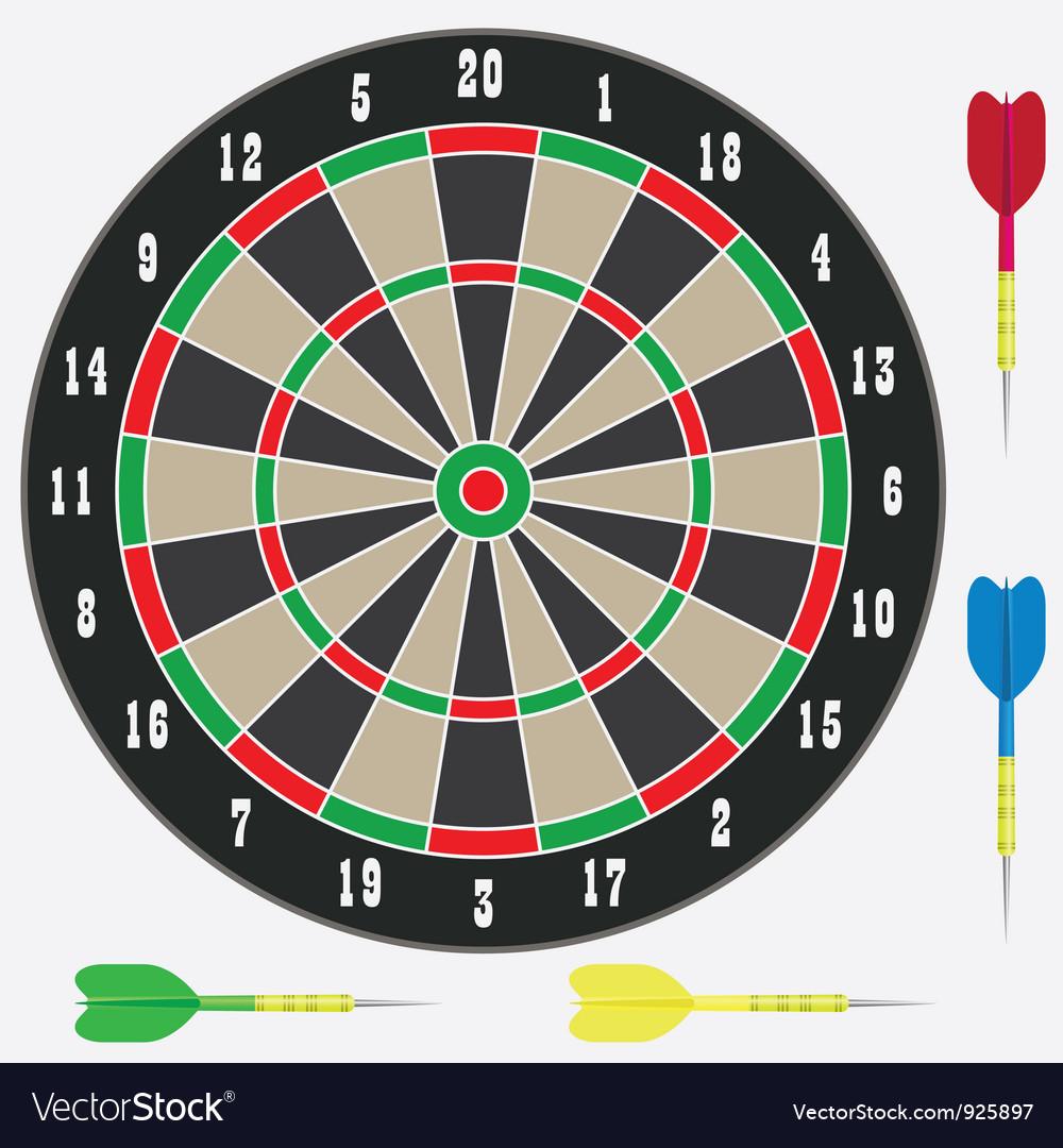 Darts vector | Price: 1 Credit (USD $1)