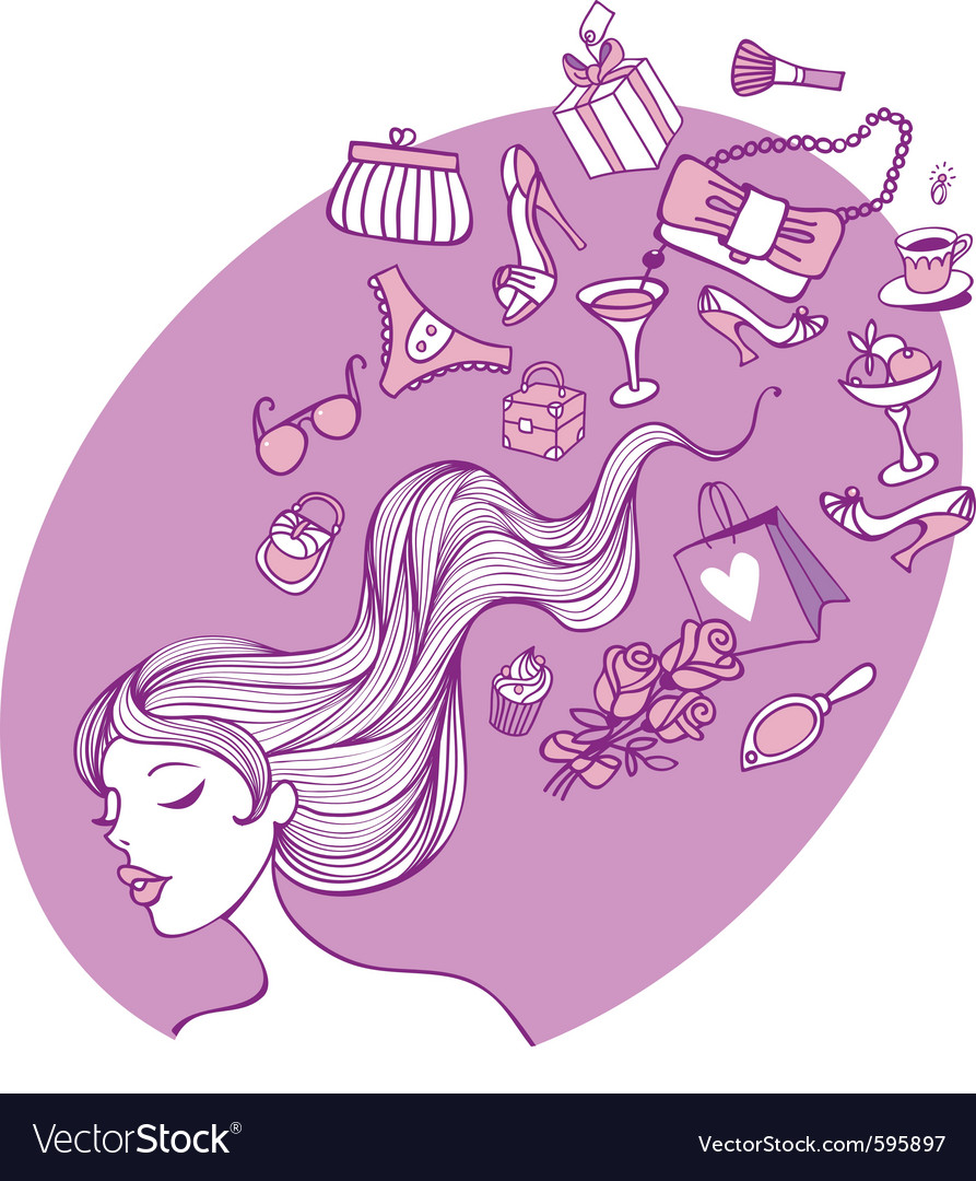 Female thoughts vector | Price: 1 Credit (USD $1)
