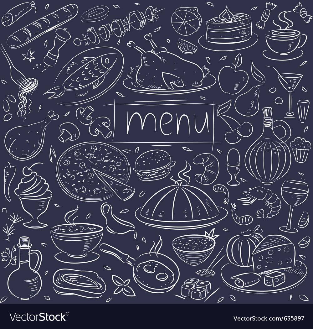 Food sketch vector | Price: 1 Credit (USD $1)