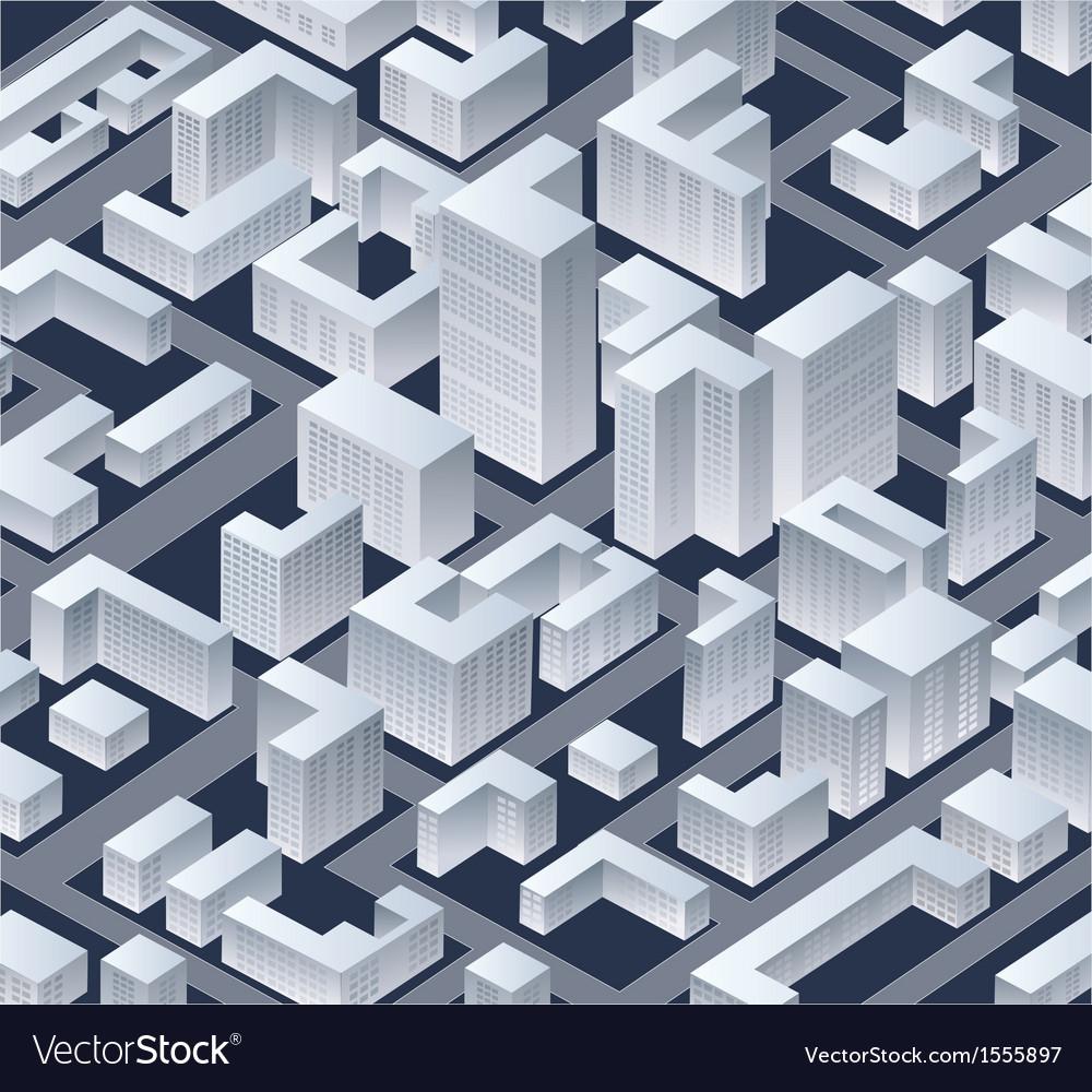 Isometric city vector   Price: 3 Credit (USD $3)
