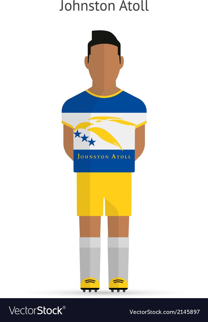 Johnston atoll football player soccer uniform vector | Price: 1 Credit (USD $1)