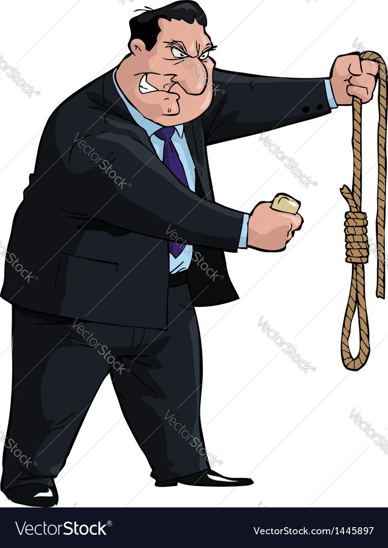 Man with noose vector | Price: 1 Credit (USD $1)