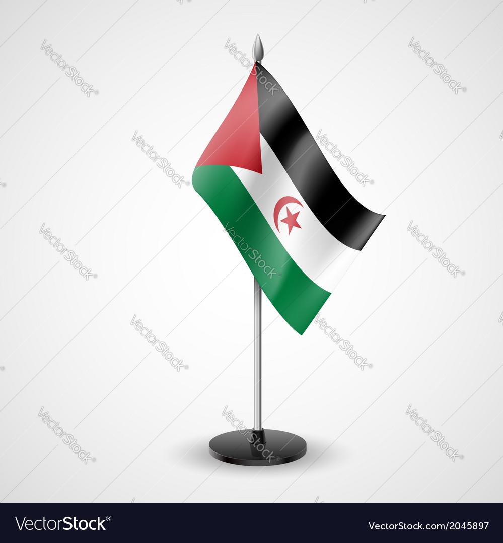 Table flag of sahrawi arab democratic republic vector   Price: 1 Credit (USD $1)