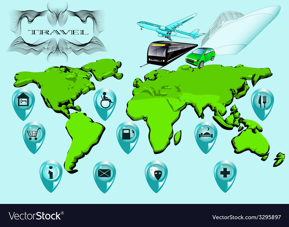 Travel infographic vector   Price: 1 Credit (USD $1)