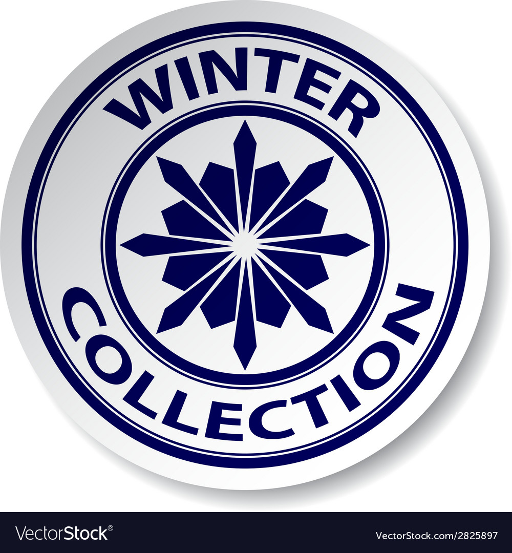 Winter collection sticker vector | Price: 1 Credit (USD $1)