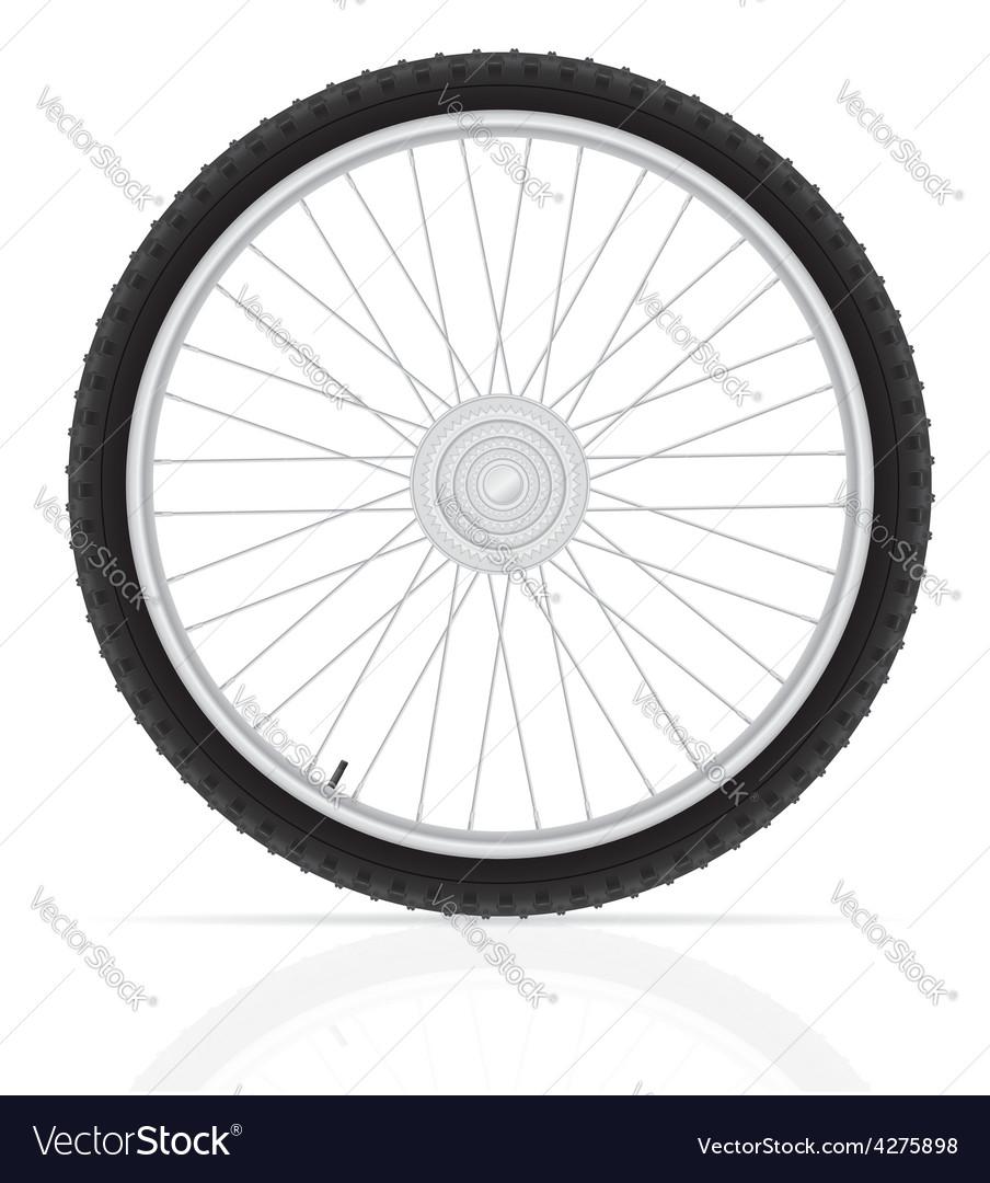 Bicycle wheel 02 vector