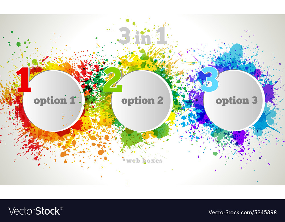 Graphic design button and labels template vector | Price: 1 Credit (USD $1)