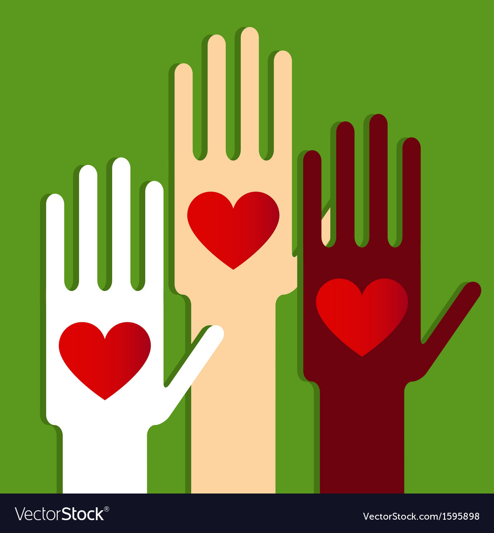 Hands with love vector   Price: 1 Credit (USD $1)