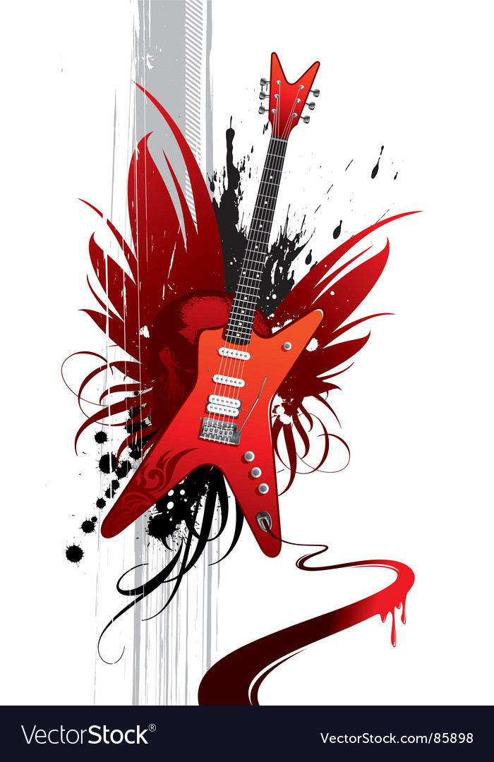 Heavy guitar vector | Price: 1 Credit (USD $1)