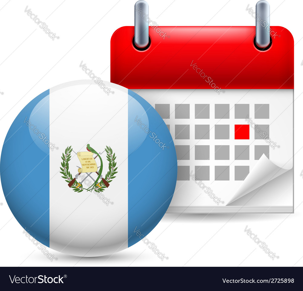 Icon of national day in guatemala vector | Price: 1 Credit (USD $1)