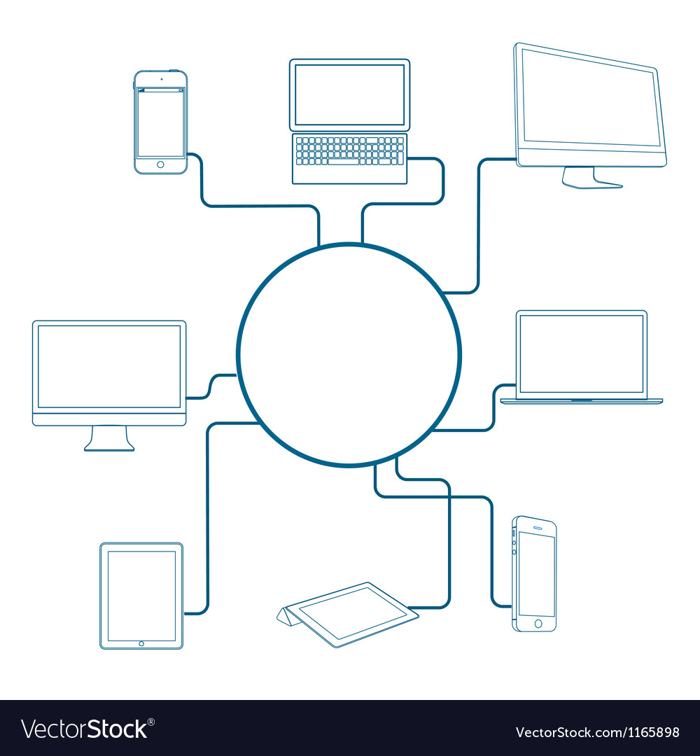Modern digital devices vector | Price: 1 Credit (USD $1)