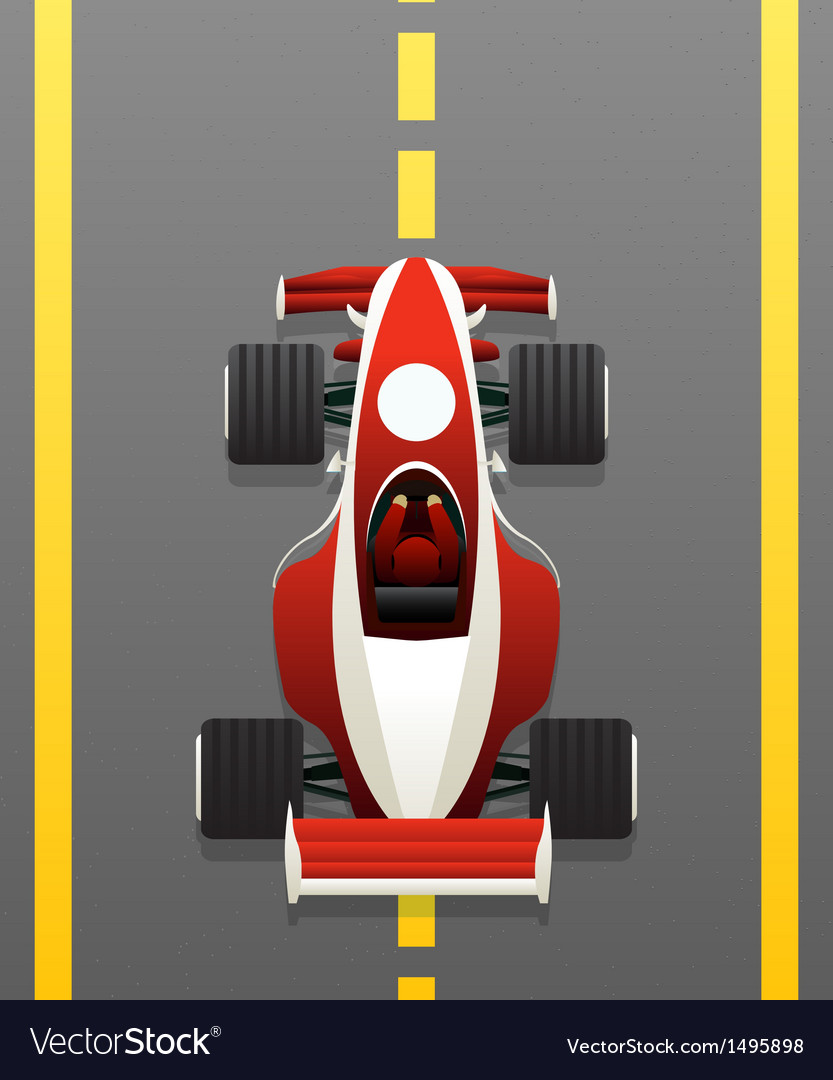 Red racing car vector | Price: 1 Credit (USD $1)
