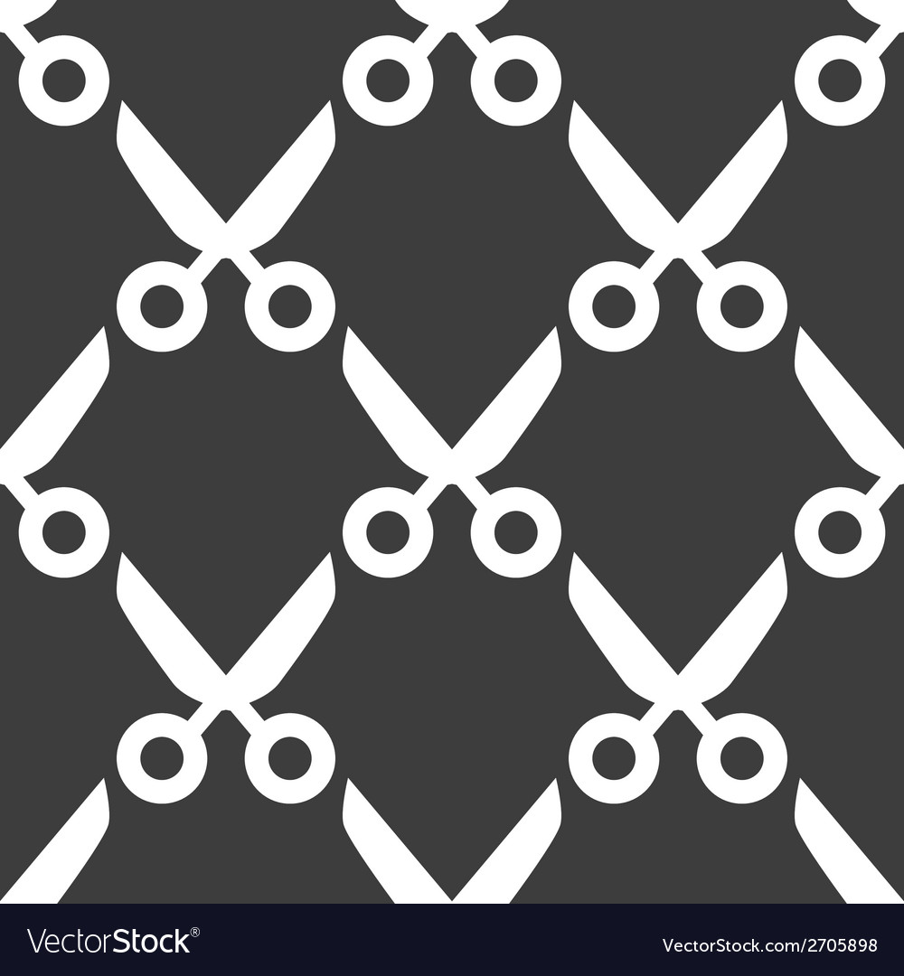 Scissors web icon flat design seamless pattern vector | Price: 1 Credit (USD $1)