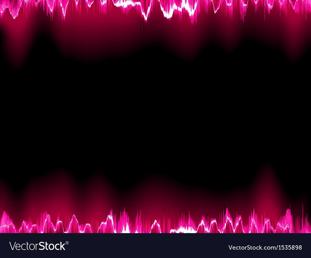 Sound waves oscillating on black eps 10 vector | Price: 1 Credit (USD $1)
