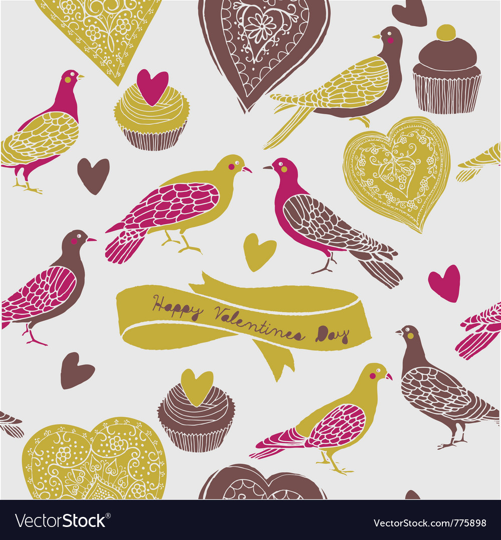 Sweet cute birds vector | Price: 1 Credit (USD $1)