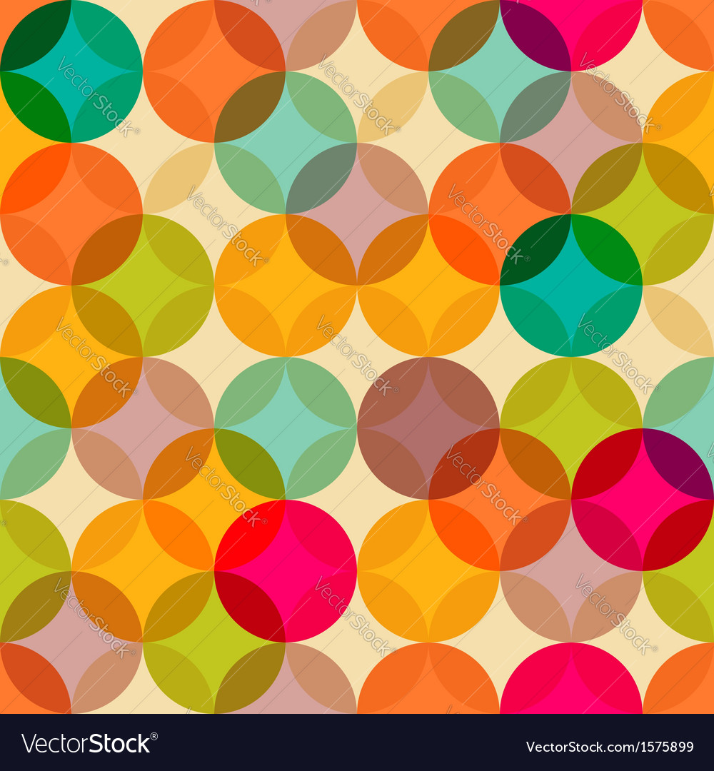 Circles vintage pattern vector | Price: 1 Credit (USD $1)