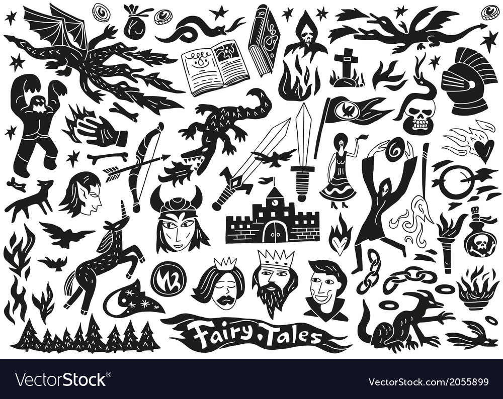 Fairy tales - doodles vector | Price: 1 Credit (USD $1)