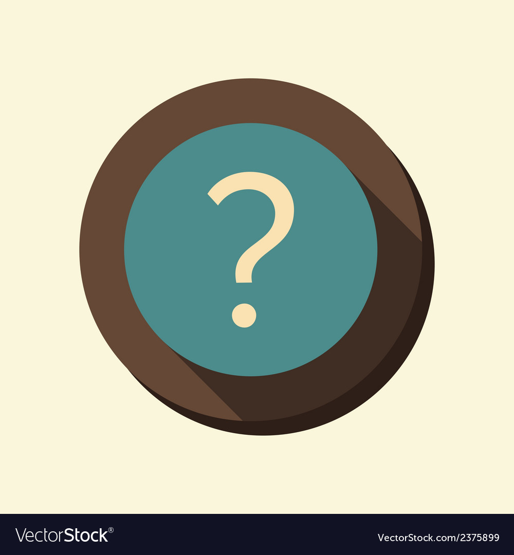 Flat web icon the question mark vector | Price: 1 Credit (USD $1)