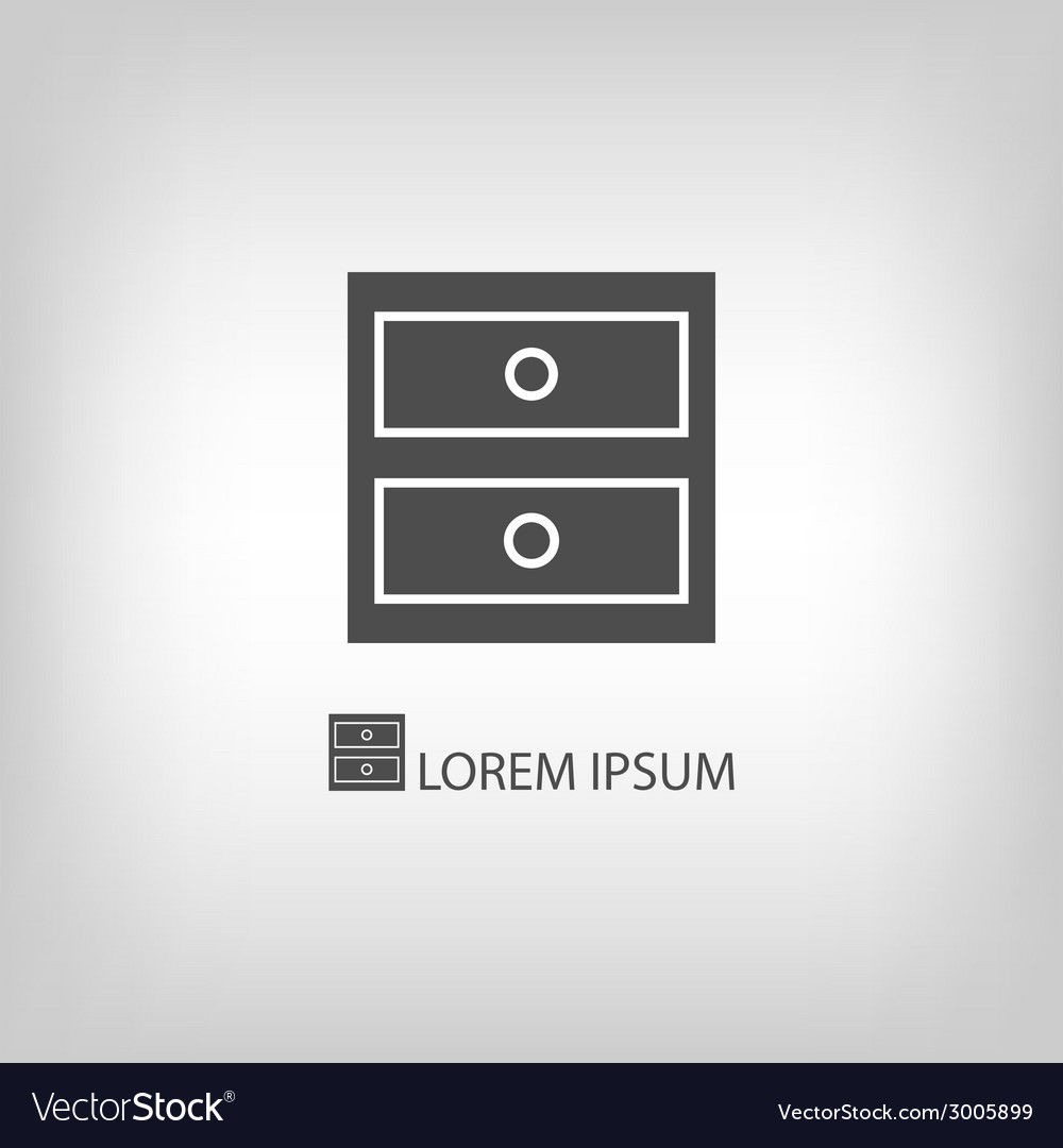 Grey chest of drawers vector | Price: 1 Credit (USD $1)