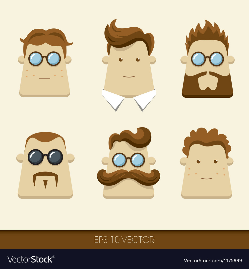 Men character icons vector | Price: 3 Credit (USD $3)