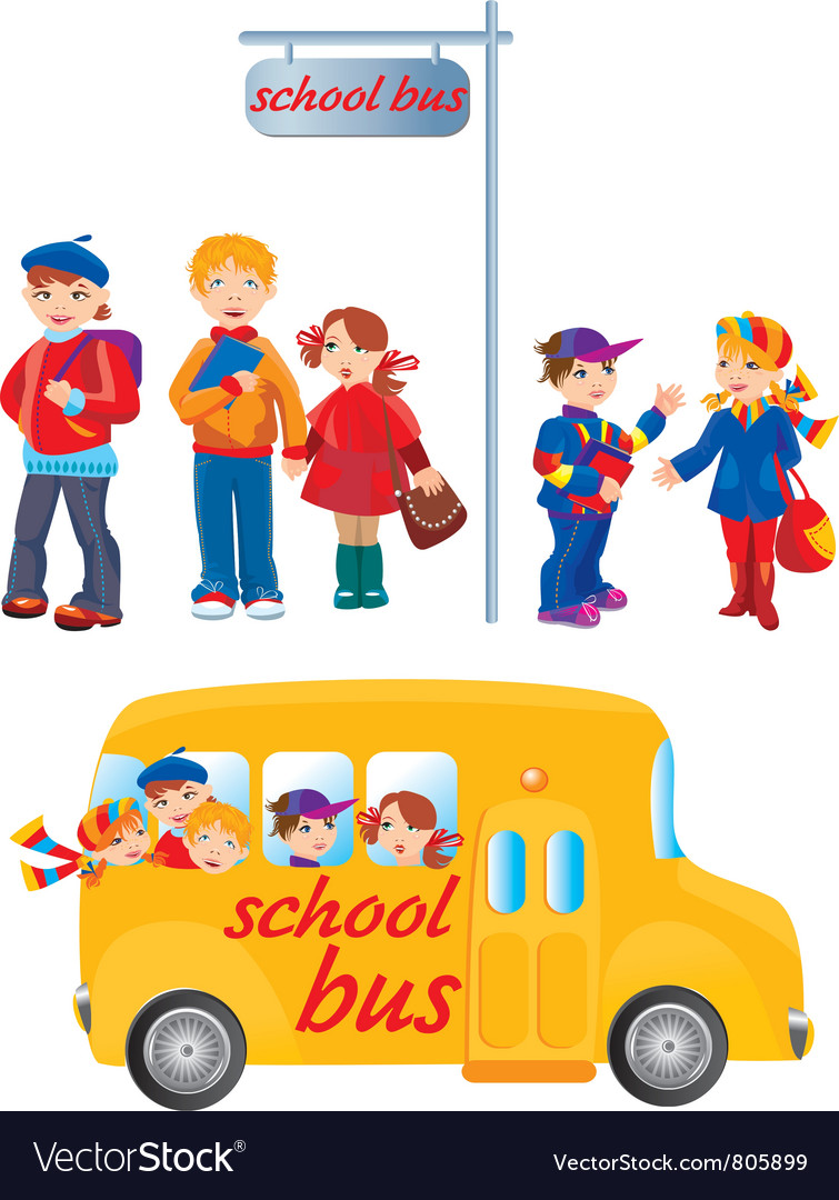School kids vector | Price: 3 Credit (USD $3)