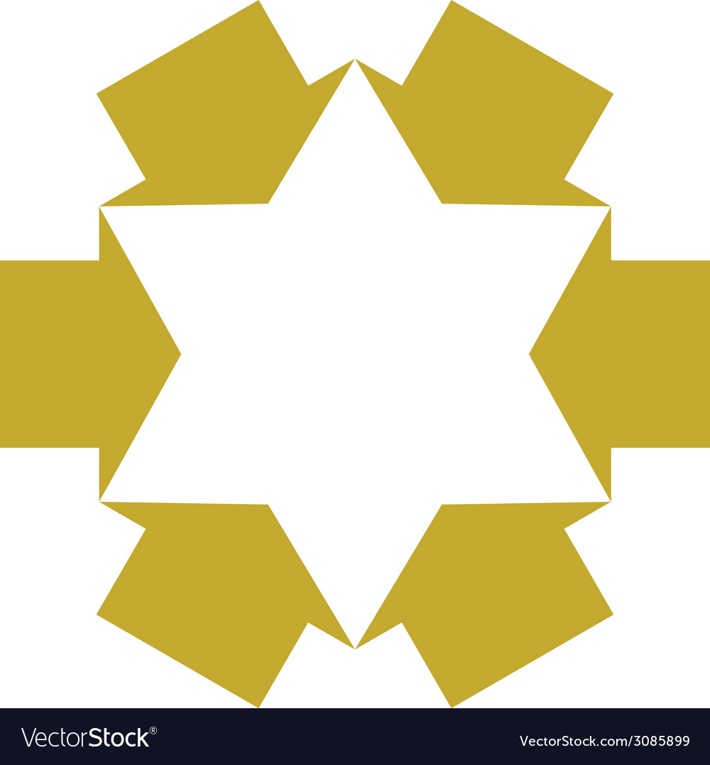 Six point star created with arrows symbol vector | Price: 1 Credit (USD $1)