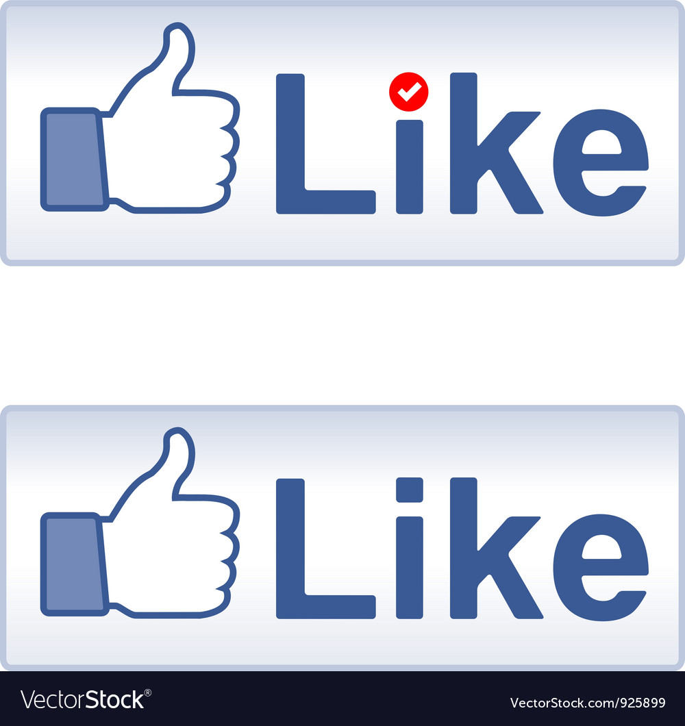 Thumb up and like vector | Price: 1 Credit (USD $1)