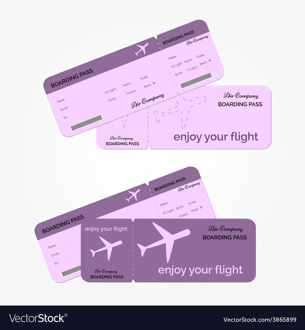 Variant of air ticket vector | Price: 1 Credit (USD $1)