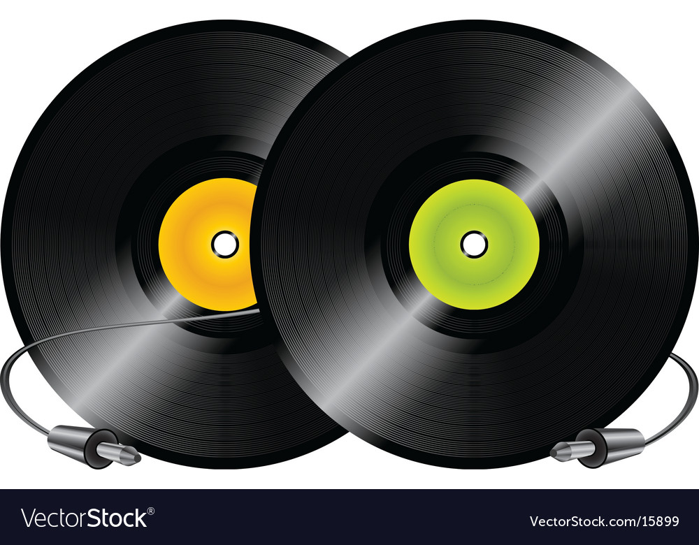 Vinyl records and jacks vector
