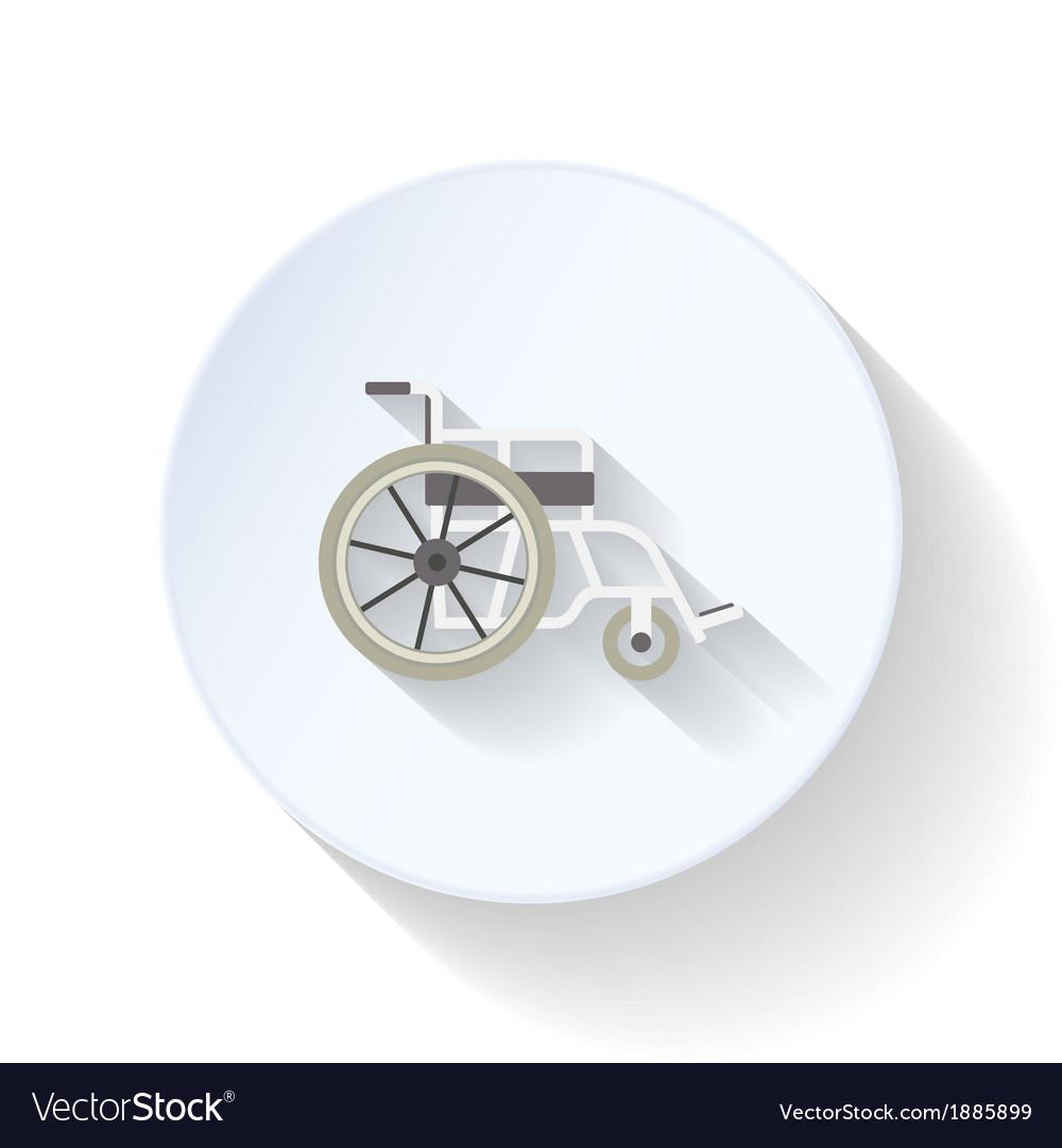 Wheelchair flat icon vector | Price: 1 Credit (USD $1)