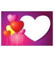 Heart shape balloons background and frame vector