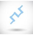 Crankshaft single icon vector