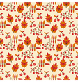 Autumn seamless pattern with wild berries vector
